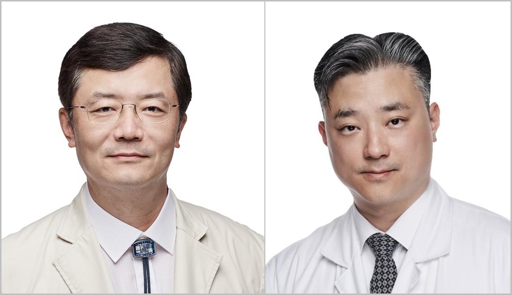 서울성모병원 정형외과 인용 교수(왼쪽), 은평성모병원 고인준 교수
