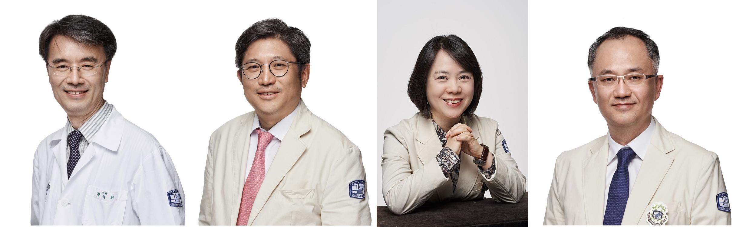 좌측부터 박철휘 ・ 김대진 ・ 정정임 ・ 김영훈 교수