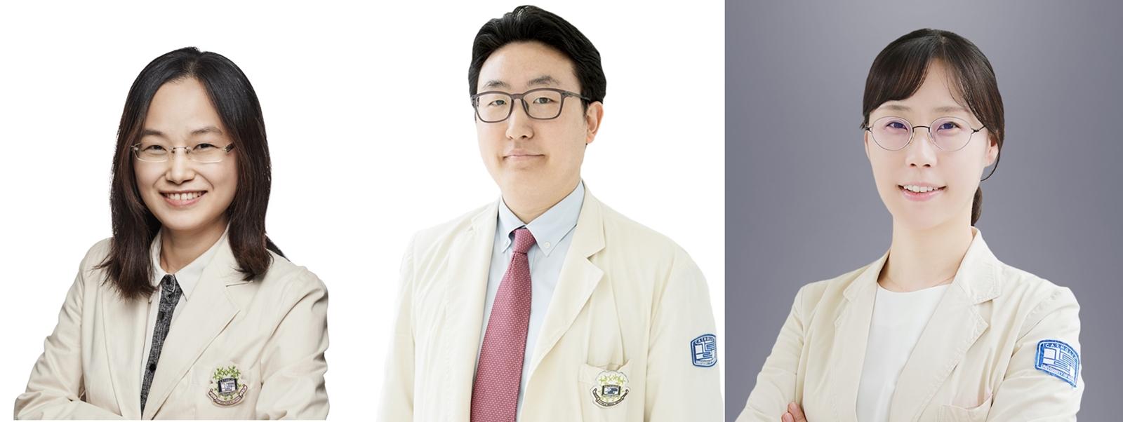 좌측부터 혈액내과 이성은 교수, 민기준 교수, 박실비아 교수