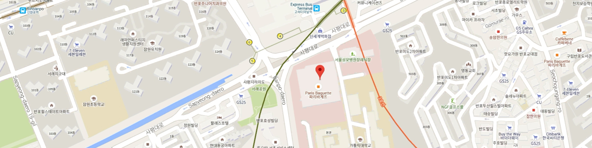 How to find us > About Us > The Catholic University of Korea Seoul Catholic University Map on